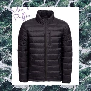 Other - (Q) Men's Black Puffer Coat Jacket 2XL